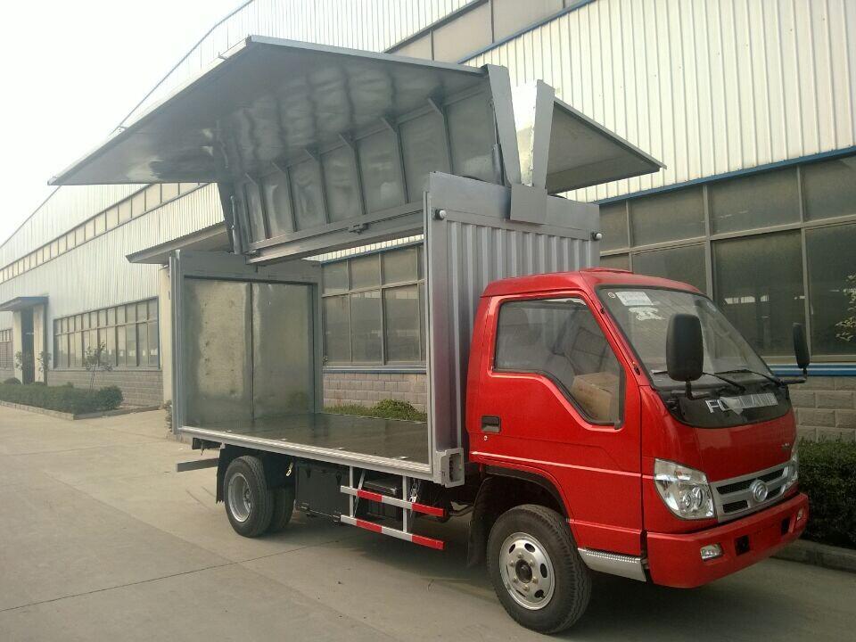 福田时代翼开启厢式车4米飞翼箱车图片