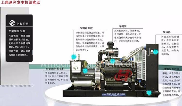 500kw上柴柴油发电机产品介绍 hq500kw